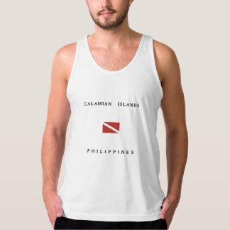 Calamian Islands Philippines Scuba Dive Flag Tank Top