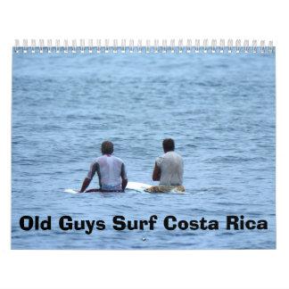 Calander, Old Guys Surf Costa Rica Wall Calendars
