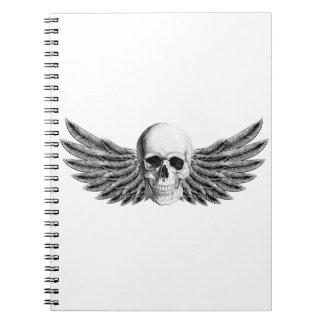 calavera1-winged notebook