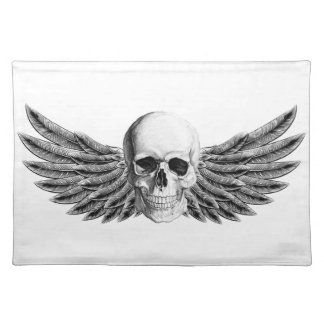 calavera1-winged placemat