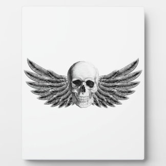 calavera1-winged plaque