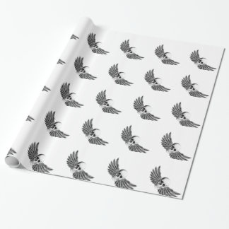 calavera1-winged wrapping paper