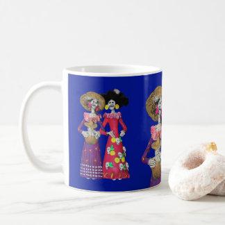 Calavera Amigas Coffee Mug