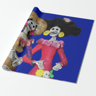 Calavera Amigas Wrapping Paper