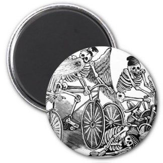 Calavera Bicyclists circa late 1800's Mexico Magnet