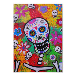 CALAVERA DAY OF THE DEAD INVITATION