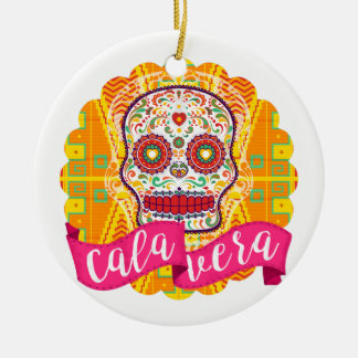 Calavera. Day of the Dead Mexican Sugar Skull Ceramic Ornament