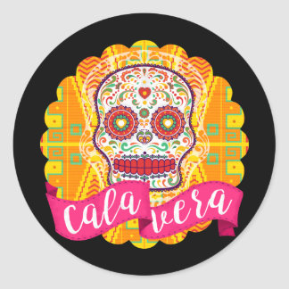 Calavera. Day of the Dead Mexican Sugar Skull Classic Round Sticker