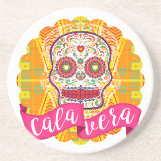Calavera. Day of the Dead Mexican Sugar Skull Drink Coasters