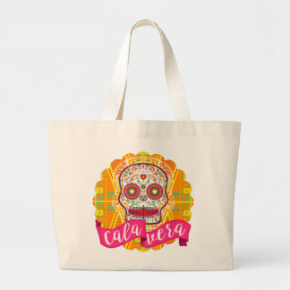 Calavera. Day of the Dead Mexican Sugar Skull Large Tote Bag