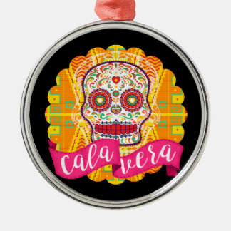 Calavera. Day of the Dead Mexican Sugar Skull Metal Ornament