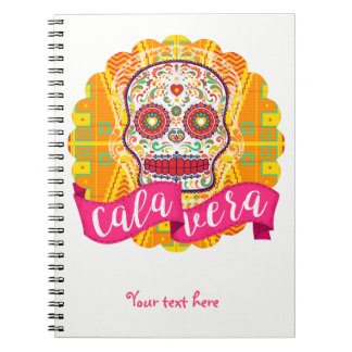 Calavera. Day of the Dead Mexican Sugar Skull Notebook