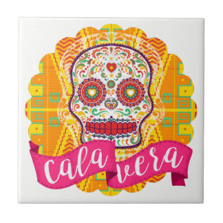 Calavera. Day of the Dead Mexican Sugar Skull Tile