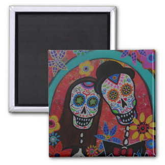Calavera Day of the Dead Wedding Magnet