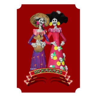 Calavera Hermanas Card
