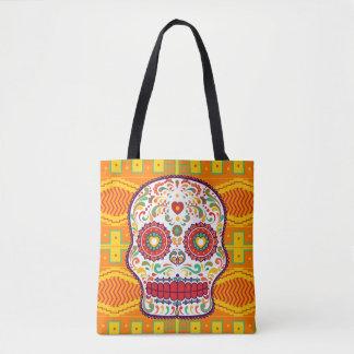 Calavera II. Day of the Dead Mexican Sugar Skull Tote Bag