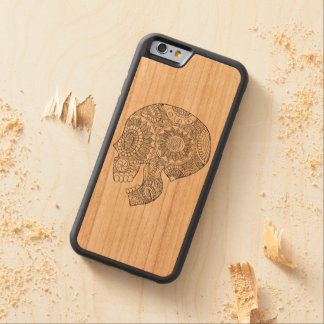 Calavera Mexican Day of the Dead Sugar Skull Carved Cherry iPhone 6 Bumper Case
