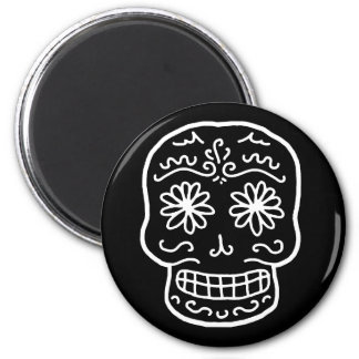Calavera Sugar Skull 2 Inch Round Magnet