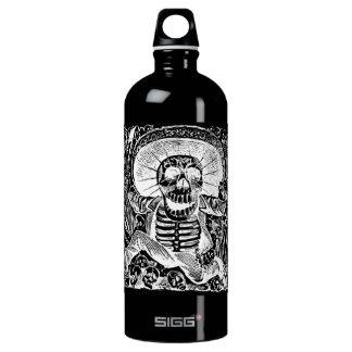 Calavera Uaxaquena black on black Liberty Bottle