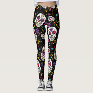 Calaveras Celebration - large Leggings