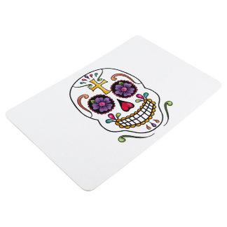 Calaveras Celebration Skull - cross Floor Mat