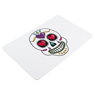 Calaveras Celebration Skull - heart Floor Mat