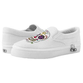 Calaveras Celebration: Skulls Slip-On Sneakers