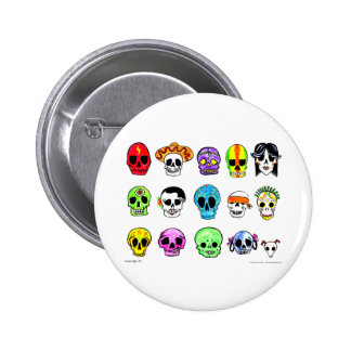 Calaveritas 2 Inch Round Button