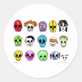 Calaveritas Classic Round Sticker