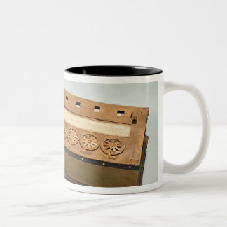 Calculating machine invented by Blaise Pascal Two-Tone Coffee Mug