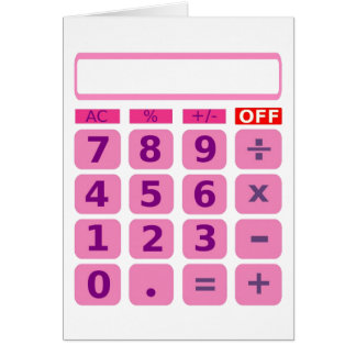 Calculator Card