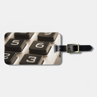 """Calculator Close-Up"" Luggage Tag"