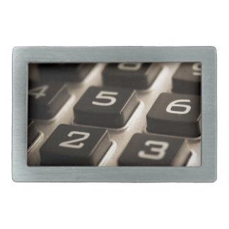 """Calculator Close-Up"" Rectangular Belt Buckle"