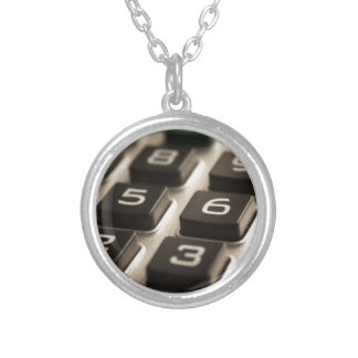 """""""Calculator Close-Up"""" Silver Plated Necklace"""