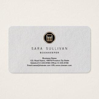 Calculator Icon Bookkeeper Premium BusinessCard Business Card