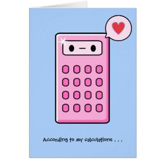 Calculator Love Card