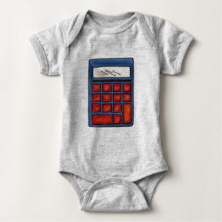 Calculator Math Nerd Mathematics Numbers Teacher Baby Bodysuit
