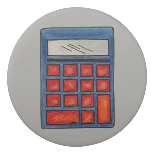Calculator Math School Personalized Teacher Gift Eraser