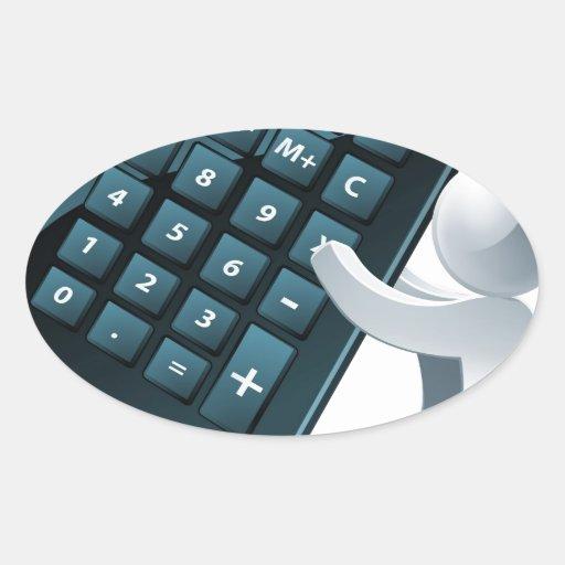 Calculator person stickers