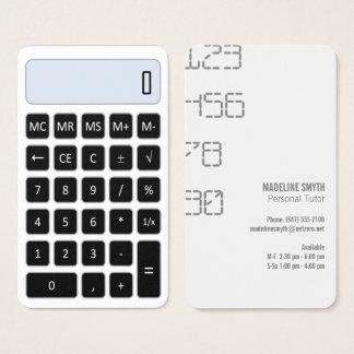 calculator tutor services business card