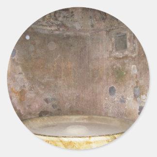 Caldarium bath at Pompeii Classic Round Sticker