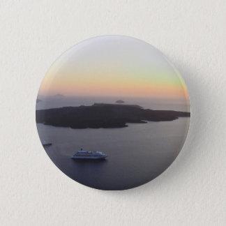 Caldera (center of volcano) in Santorini, Greece 2 Inch Round Button