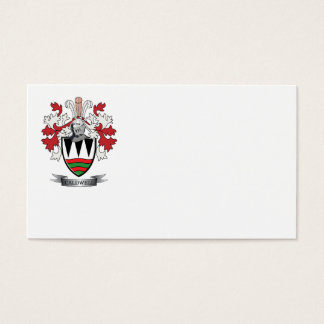 Caldwell Family Crest Coat of Arms Business Card