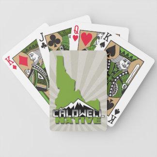 Caldwell Idaho Native Idahoan Hometown USA Bicycle Playing Cards