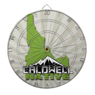 Caldwell Idaho Native Idahoan Hometown USA Dartboard