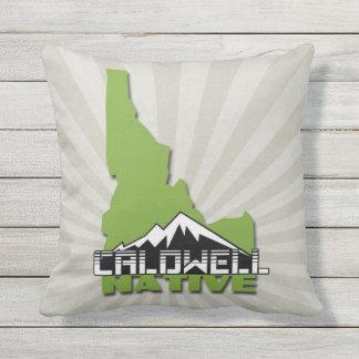 Caldwell Idaho Native Idahoan Hometown USA Outdoor Pillow