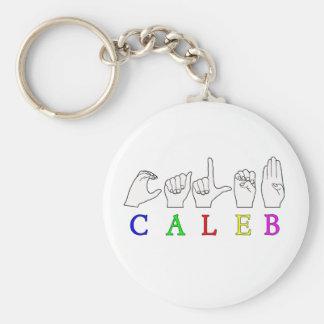 CALEB FINGERSPELLED  NAME SIGN ASL KEY CHAIN