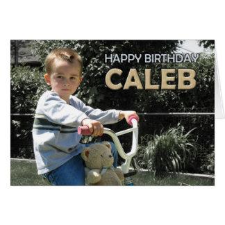 Caleb's card