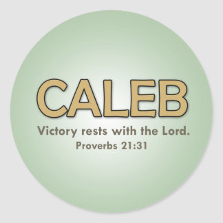 Caleb's verse sticker