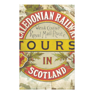 Caledonian Railway. Tours in Scotland. Stationery